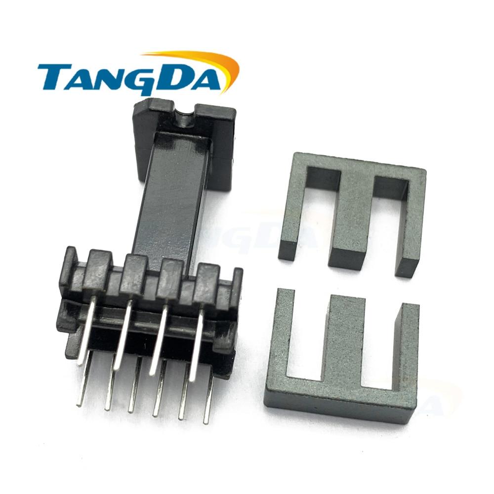 Tangda EEL16 6 + 4 pines 10 P núcleo magnético de la anguila + bobinadora de esqueleto núcleo de ferrita transformador carcasa vertical AG