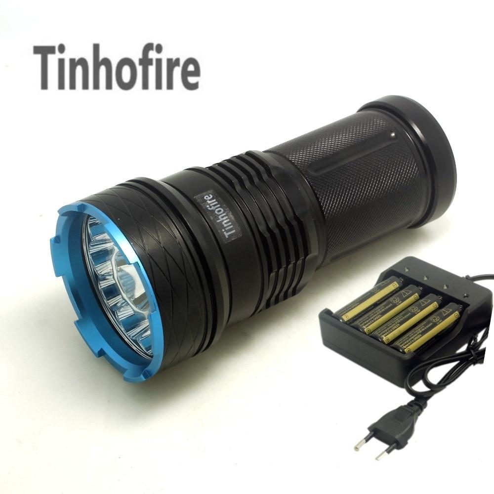 Tinhofire 20000 люмен King 12T6 Светодиодная лампа 12 x CREE XM-L T6 светодиодный фонарик для кемпинга охоты лампа + зарядное устройство