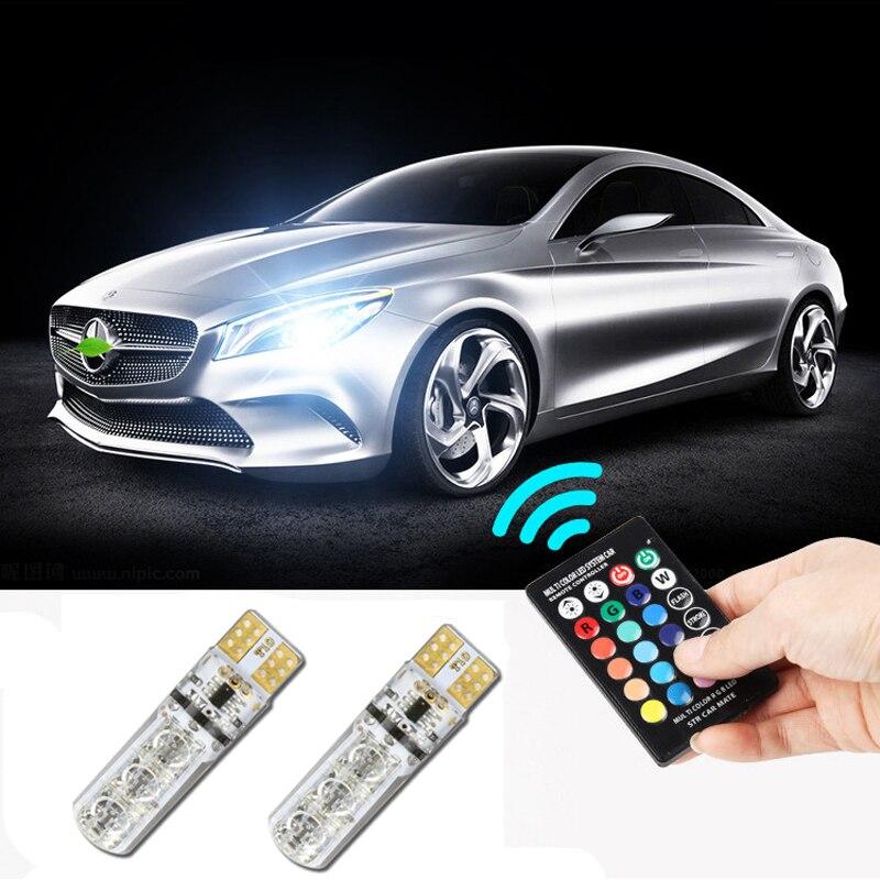 T10 RGB Multicolor W5W luces de estacionamiento lateral No Error para Mercedes Benz W202 W220 W204 W203 W210 W124 W222 X204