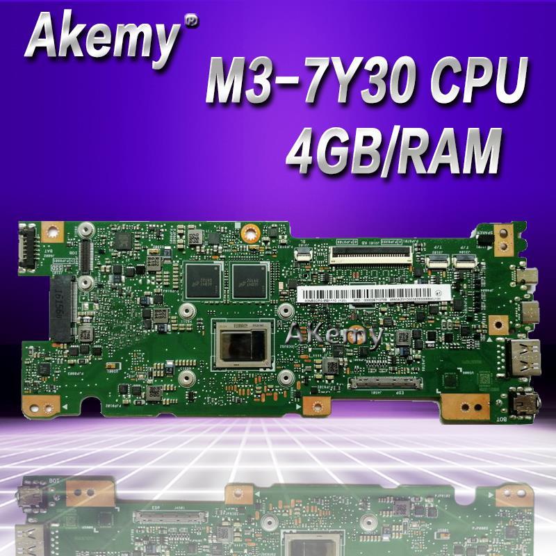 Akemy UX330CAK 4GB/RAM M3-7Y30 CPU para ASUS ZenBook UX330CA UX330C UX330 placa base para ordenador portátil probada 100% placa base original