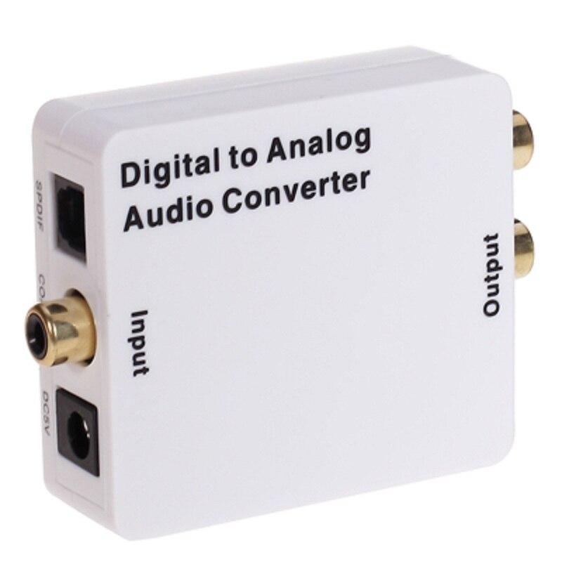 Conversor De Áudio Digital Coaxial Ou Toslink para Analógico L/R de Áudio Analógico para Digital com Jack de 3.5mm saída (RCA + Fone de Ouvido)