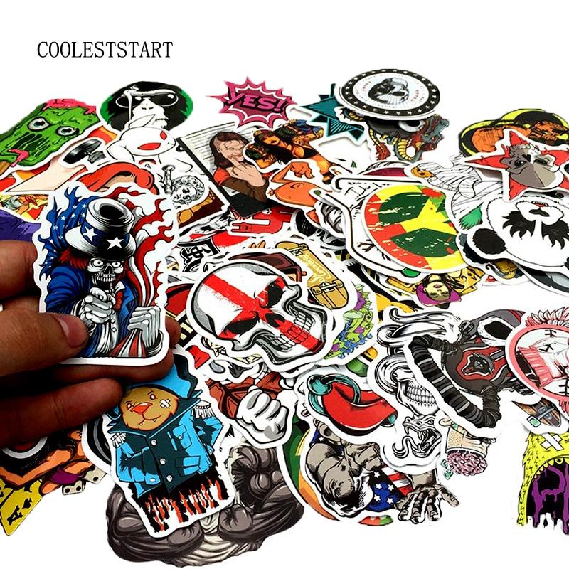 50-100PCS Graffiti Aufkleber Retro Tier Kreative Kühle Wasserdichte Aufkleber für Koffer Laptop Fahrrad Motorrad Auto Aufkleber