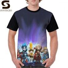 Summoners War T Shirt Skin Tyron Verdehile Raoq Shanon Camilla T-Shirt Short-Sleeve Male Tee Shirt Basic Polyester Tshirt