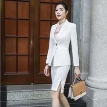 Mode formelle femmes daffaires costumes avec Blazer et jupe automne hiver bureau dames professionnel OL Styles vêtements de travail Blazers