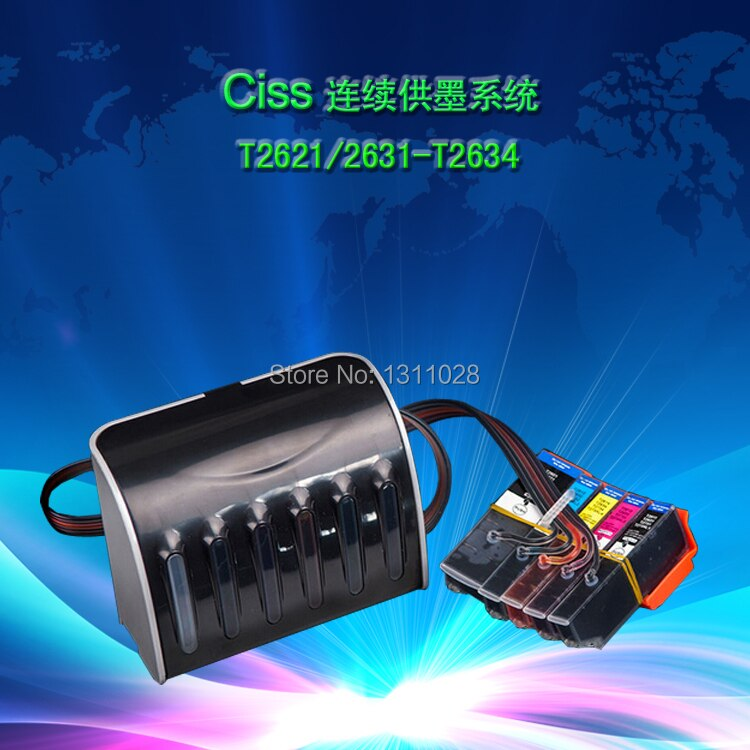 INK WAY T2601 full black tank, T2621  Ciss ink system for XP-600 XP-605 XP-700 XP-800 XP-610 XP-615 XP-710 XP-810 With ARC