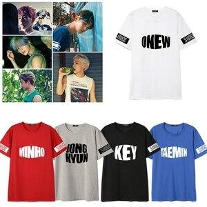 Kpop SHINee men T-shirt ONEW JONG HYUN KEY MINHO TAEMIN Crew Neck short sleeve summer unisex Tshirt New Tee