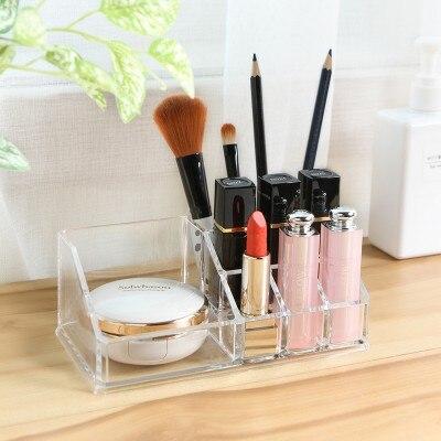 Fashion Transparent 9 Case cosmetic box, tabletop finishing box, dressing table free shipping