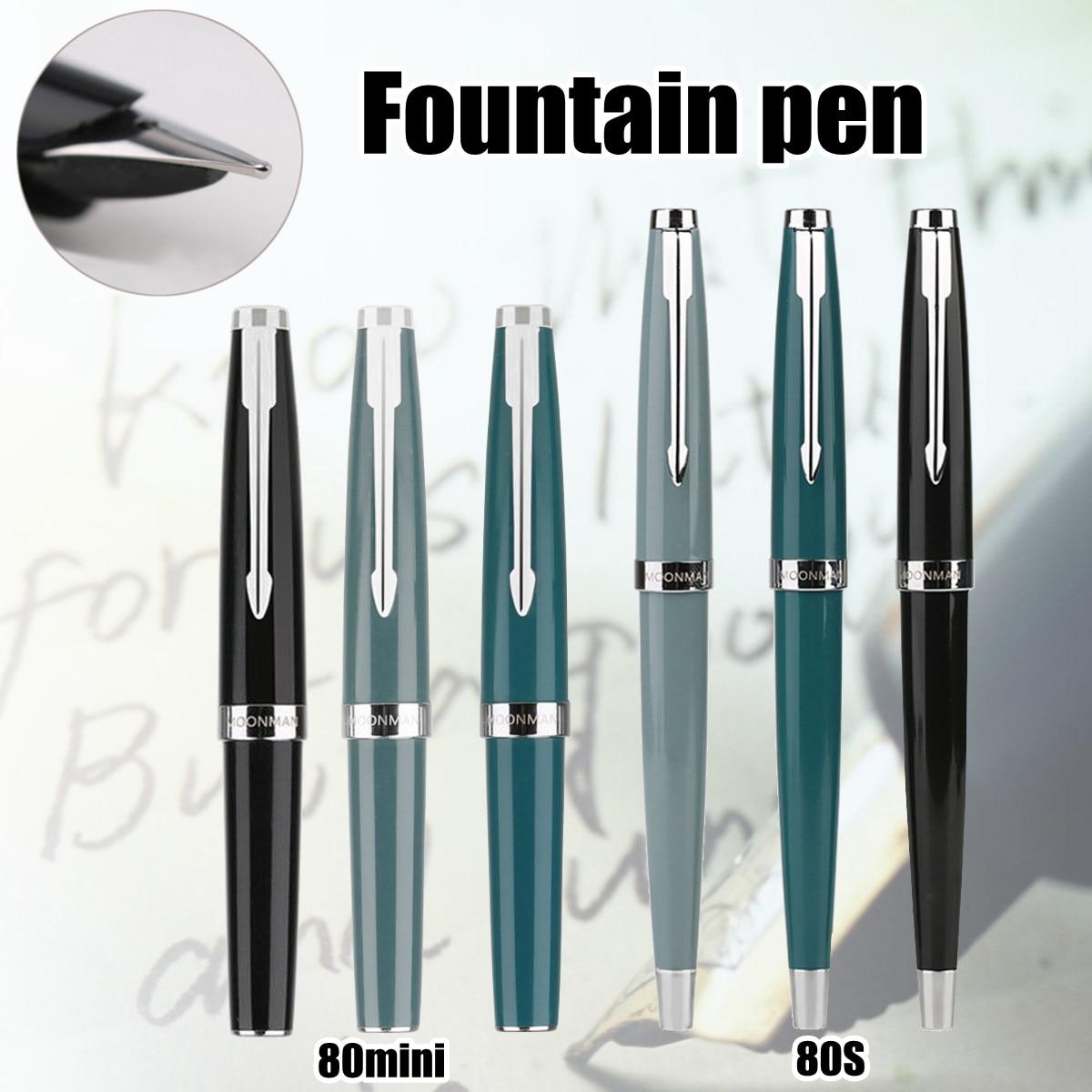 MOONMAN 80s 80 MINI Pocket Fountain Pen Fine Nib Find Classic Series Pen Fountain Pen