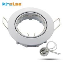 2 pièces blanc rond lumière encastrée spot halogène LED y compris Base 230V GU10 plafond spot luminaire MR16 luminaire whit ampoule LED