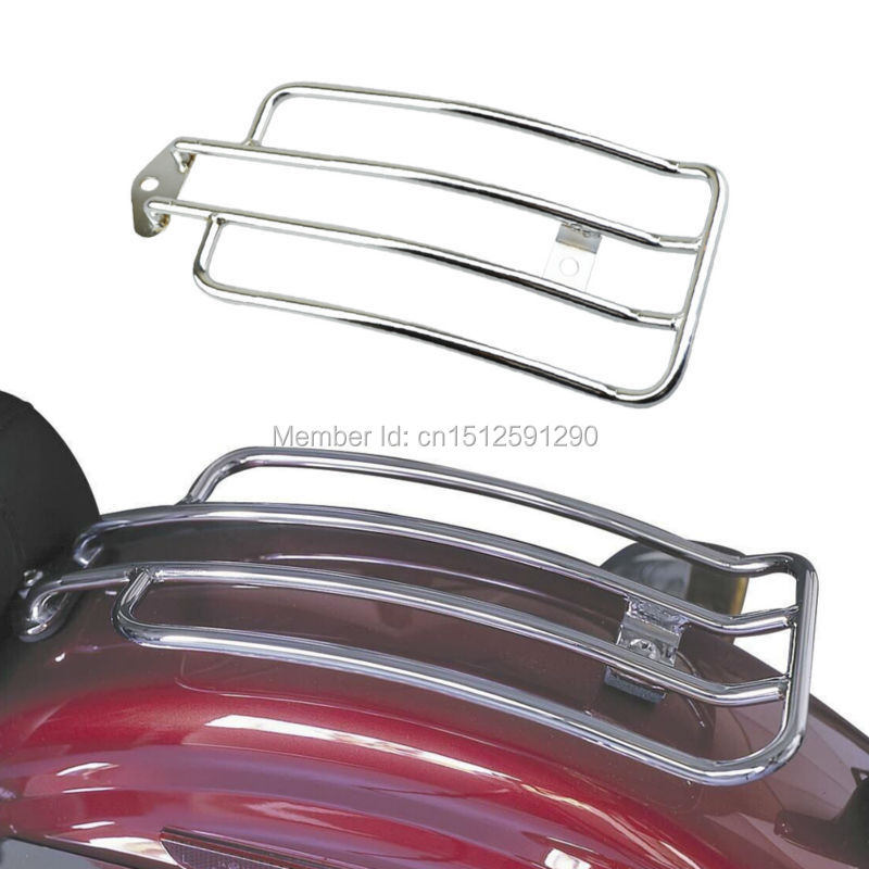 رف أمتعة دراجة نارية كروم يناسب هارلي 1985-2003 XL Sportster 883 1200 مع مقعد سولو الأسهم شحن مجاني