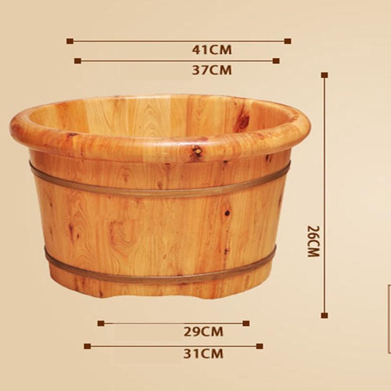Купить с кэшбэком Barrel Foot Bath Household Foot Tub Solid Wood Steam Fumigation Barrel For Adult Pedicure Massage Wooden Bucket Foot Bath