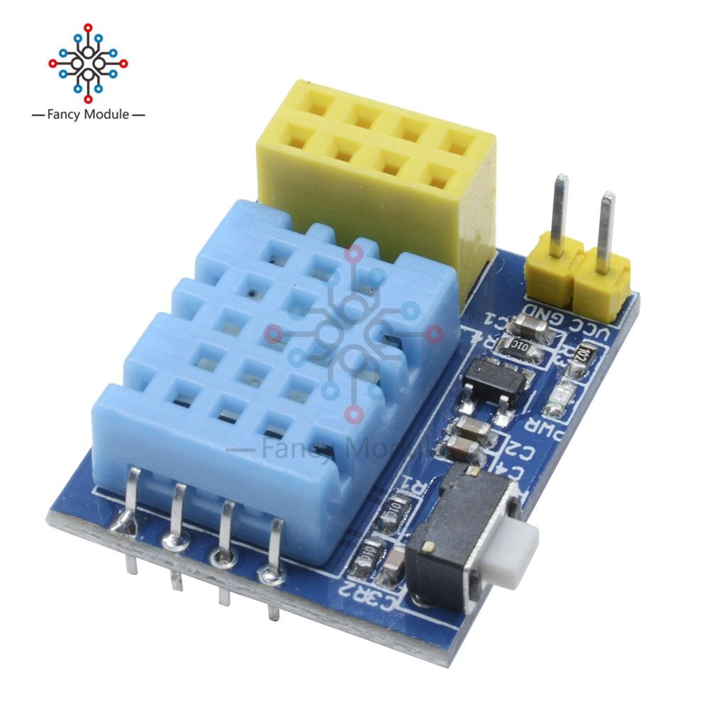 ESP8266 ESP-01 ESP-01S DHT11 Temperatura Sensor de Umidade Módulo IOT NodeMCU ESP8266 Wi-fi de Casa Inteligente para Arduino DIY Kit