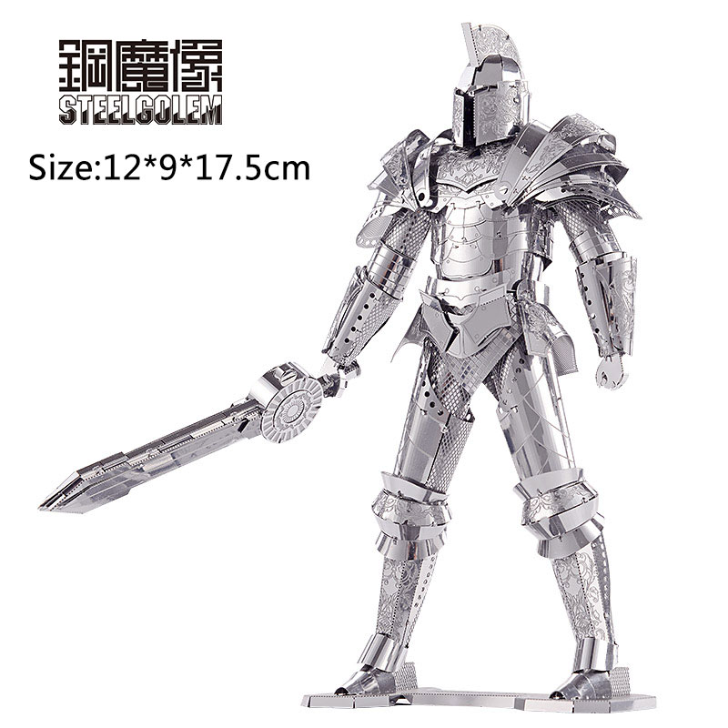 piececool 2017 newest 3d metal puzzles of the imperial guards of ming dynasty 3d model kits diy funny gifts for children toys Piececool 3D Metal Puzzles Toys Model Black Knight Adult Children Laser Cut Jigsaw Educational Toys Collection Christmas Gifts