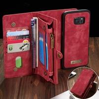 Чехол-бумажник для Samsung Galaxy S7 Edge, S8, S9, S10 Plus, S10E, note 8, 9, 10 Pro, кожаный