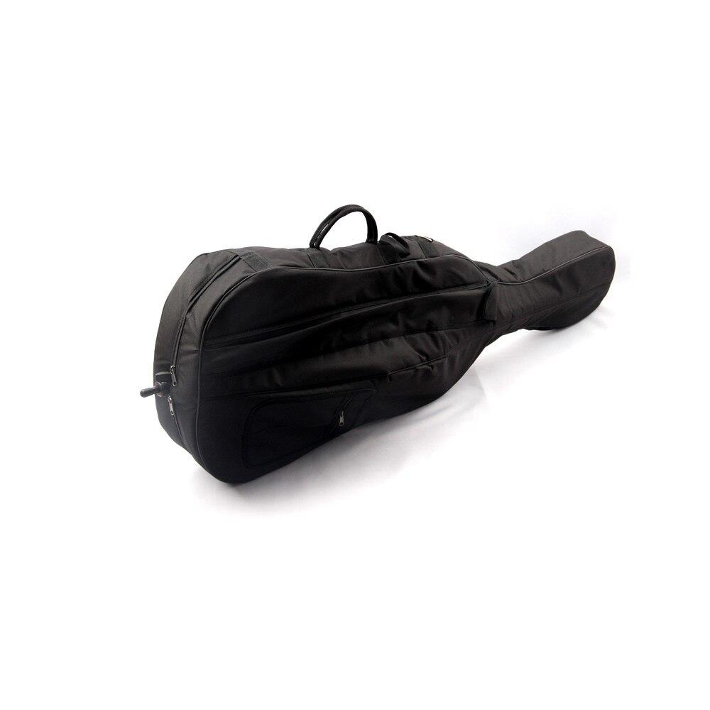 Violoncelle professionnel Sac Portable Epaissir Etanche Durable Violoncelle Étui Souple Pleine Grandeur 1/8 1/4 2/4 3/4 4/4 couleur noire