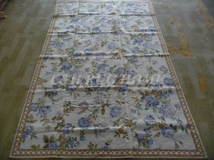 10 K 5x8 tapeçaria tapetes de lã com flores handmade decoração
