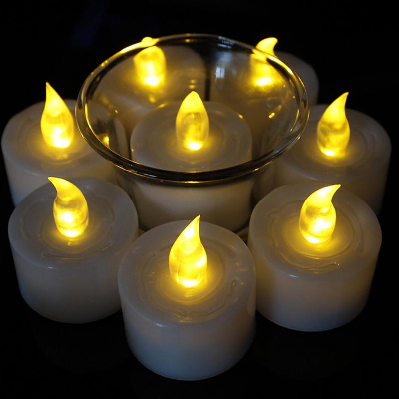 1 pc/12 pçs led flameless tealight velas bateria operado para festa de aniversário do casamento natal casa decoração do feriado
