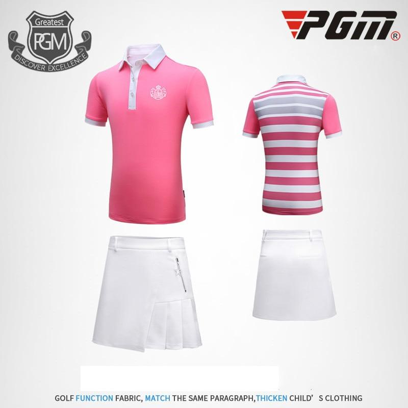 PGM Golf traje de niña de manga corta Falda corta transpirable sudoroso deporte vestido talla M-XXL