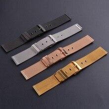 Neway aço inoxidável milanese relógio de pulso pulseira pulseira relógio de pulso fivela preto ouro rosa prata 18mm 20mm 22mm 24mm