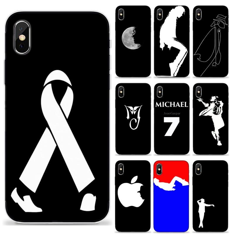 Iphone 7 plus caja del teléfono MJ Michael jackson Telefone para iPhone 4 5 6 s 7 s 8 s 8 Plus X XR Max Coque de cidade Capa