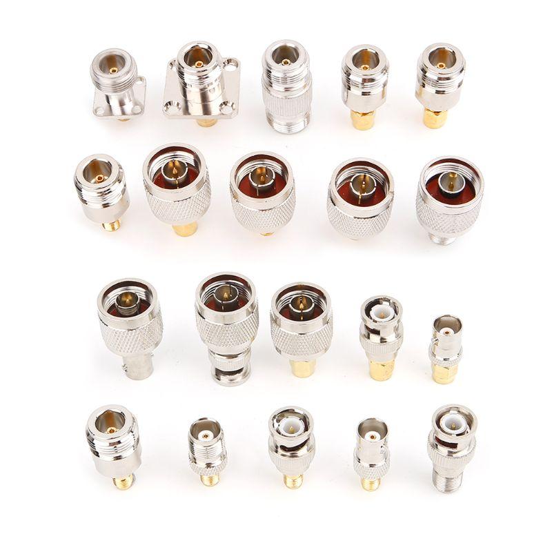 مجموعة محول موصل BNC/TNC/SMA/RF ، 20 قطعة ، مجموعة محولات اختبار