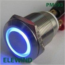 ELEWIND-interrupteur à boutons SPDT   19mm, avec lumière (/B/12 V/S)