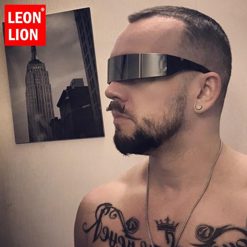 Забавная футуристическая маска LEONLION, костюм монофона, солнцезащитные очки, новинка, очки для Хэллоуина, вечеринки, украшения