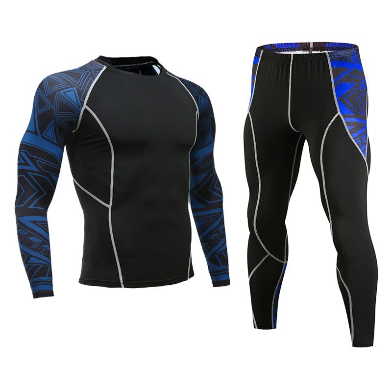 Long Johns hombres ropa interior térmica ajustado elástico fitness shaper manga larga undershirt leggings de compresión
