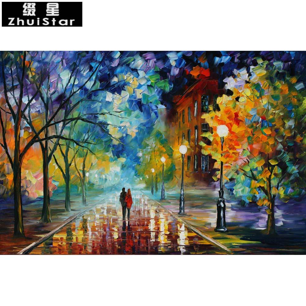5d diy pintura diamante casal sob a árvore bordado quadrado cheio de diamante ponto cruz strass pintura mosaico decoração da sua casa