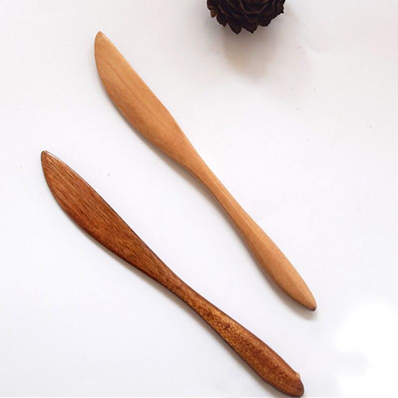 1 Uds cuchillo para jamón japonés de madera, cuchillo para jamón, cuchillo para jamón, mantequilla, ensalada, pasta, recubrimiento, cubiertos de madera, cuchillo para mantequilla, cuchillos de madera
