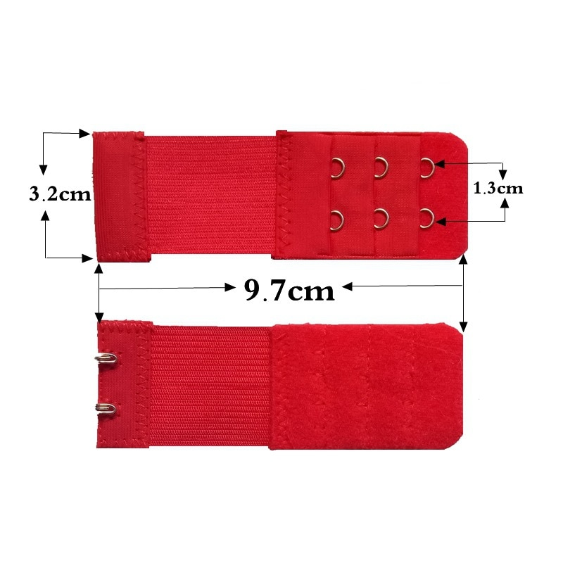 Women Bra Extender 3 Rows 2 Hooks Elastic Adjustable Lengthen Clasp for Underwear -MX8
