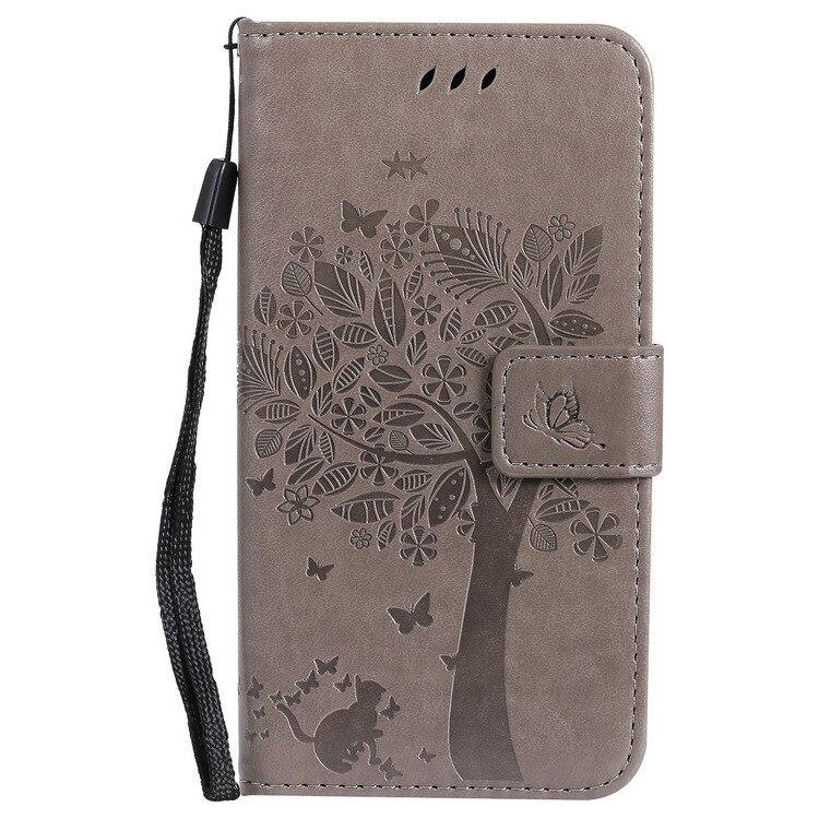 Cubierta de la caja para Alcatel U5 3G 4047 alta calidad cartera de cuero cubierta protectora del teléfono móvil shell