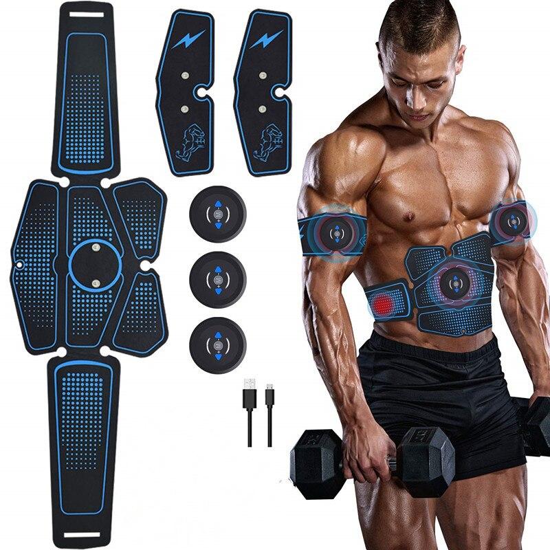 ABS Bauch Muskel Trainer Elektrische Presse Stimulator Abnehmen Fitness EMS Übung Maschine Home Gym Fitness Ausrüstung Ausbildung