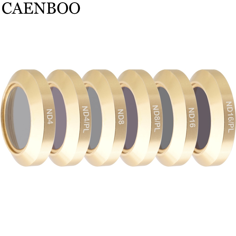CAENBOO para DJI Mavic 2 Zoom densidad neutra ND4/8/16 ND4PL ND8PL ND16PL Polar filtro para Dron Protector de vidrio óptico Accesorios