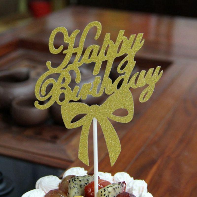 Topper para tarta de cumpleaños, topper para tarta de feliz cumpleaños, decoración de fiesta de cumpleaños personalizada