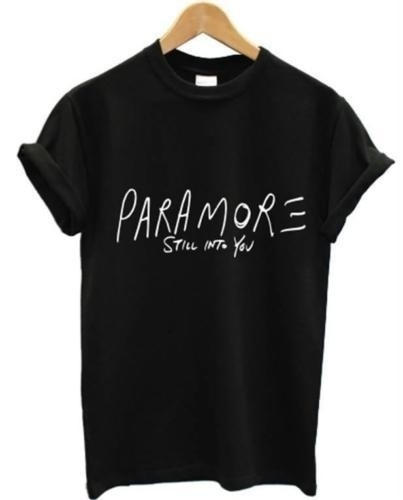 Camiseta de verano a la moda para mujer PARAMORE STILL in YOU Print Top Tees mujer algodón tumblr eslogan goth Casual manga corta T camisa
