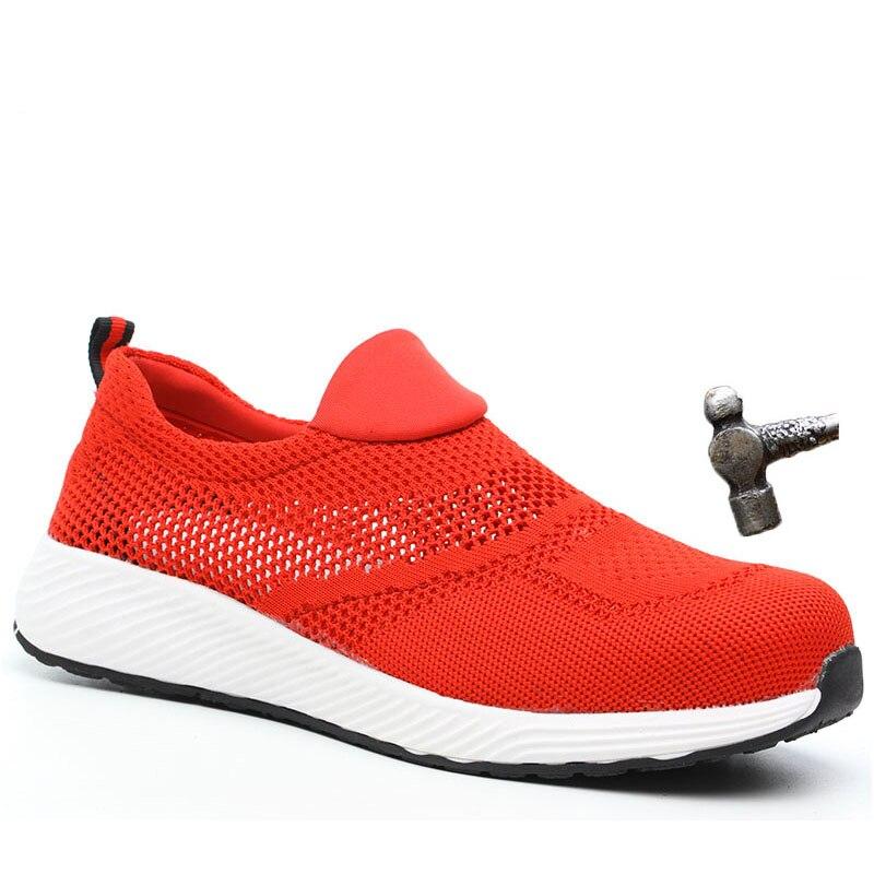 Chaussures de sécurité marque été en acier léger embout unisexe travail bottes de sécurité respirant hommes femmes chaussures grande taille chaussure de sécurité