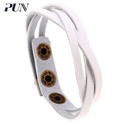 Pulseira de couro do sexo feminino do sexo feminino do sexo feminino braceletes para mulheres