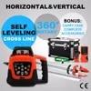 Niveau au laser vert rotatif 360 degrés trépied + baguette télécommande électronique auto-nivelant portée de 500m