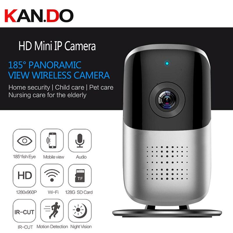 1.3MP Wifi IP Cámara 185 grados cctv P2P wifi cámara de vigilancia del hogar Micro Cámara 960P VR monitor de bebé uso en el hogar