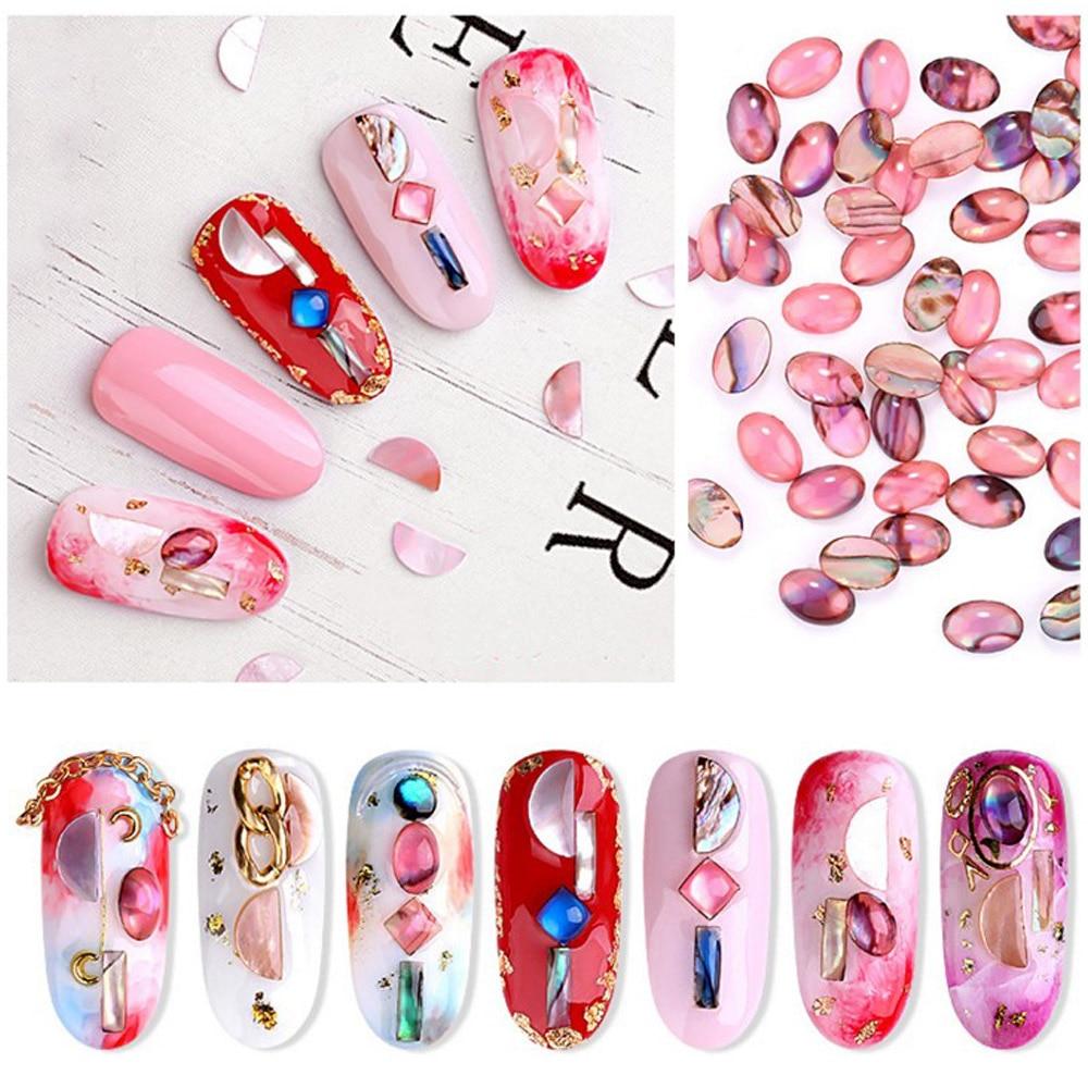 Новинка, 10 шт., декоративные украшения для ногтей, Красочный натуральный оболочка, аксессуары для ногтей