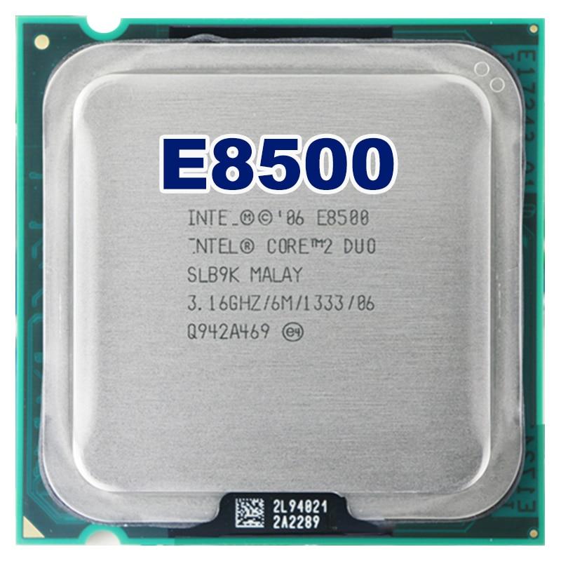 Intel core 2 duo E8500 CPU (procesador de 3,16 Ghz/6 M/1333 GHz) 775 envío gratis placa base cpu combo