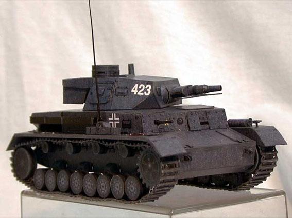 Tanque 3D de papel modelo DIY de Alemania de la Segunda Guerra Mundial PANZER KAMPFWAGEN IV