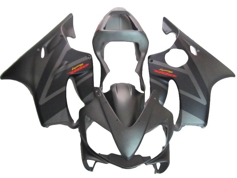 Kit de carenado negro mate para HONDA CBR600 F4i 01 03 02, carenados de moldeo por inyección de pegatinas personalizadas xl32