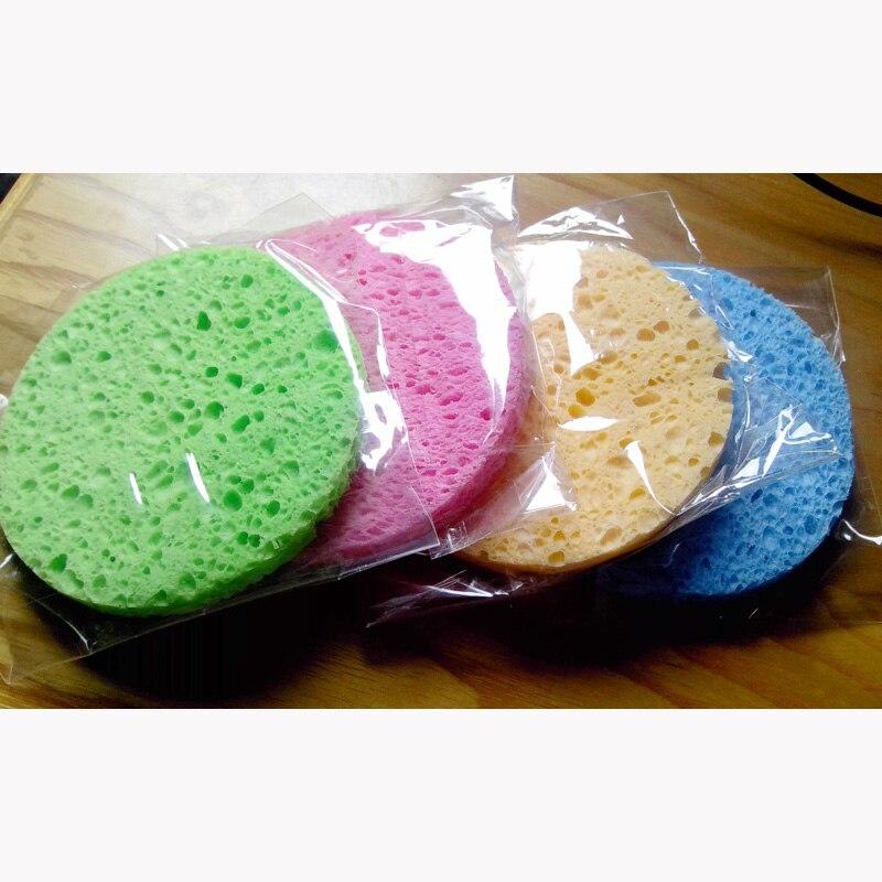Shinbay 100 Pcs Natuurlijke Houtpulp Spons Voor Wassen Facial Cleansing Pad Gezicht Zorg Cellulose Spons Bladerdeeg Cleaner