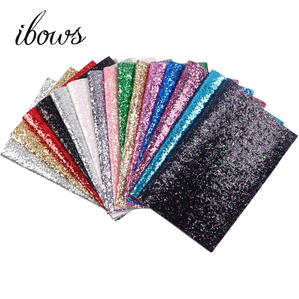 22CM*30CM Glitter Leather Fabric Shiny Laser Sequins Patchwork DIY Bag Shoes Accessories Fabric Hand