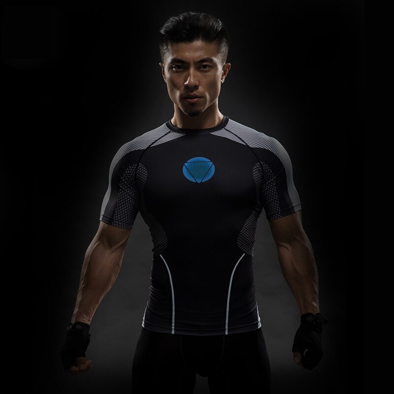 Camiseta con estampado 3D del Capitán América de TUNSECHY, camisetas para hombre, vengadores, iron man, camiseta de la guerra Civil, ropa deportiva para hombre
