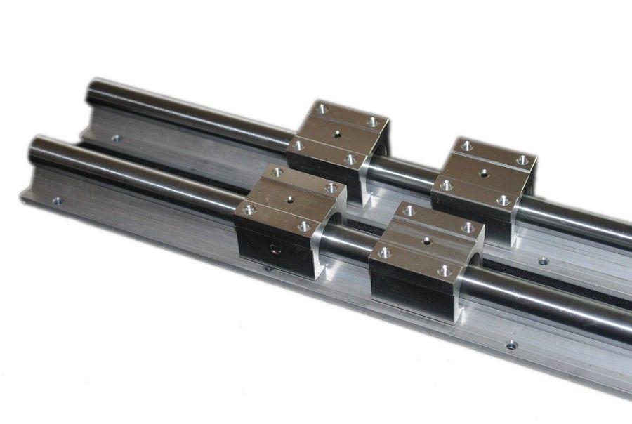 2 قطعة SBR20-L1200mm خطي السكك الحديدية + 4 قطعة SBR20UU تحمل كتلة
