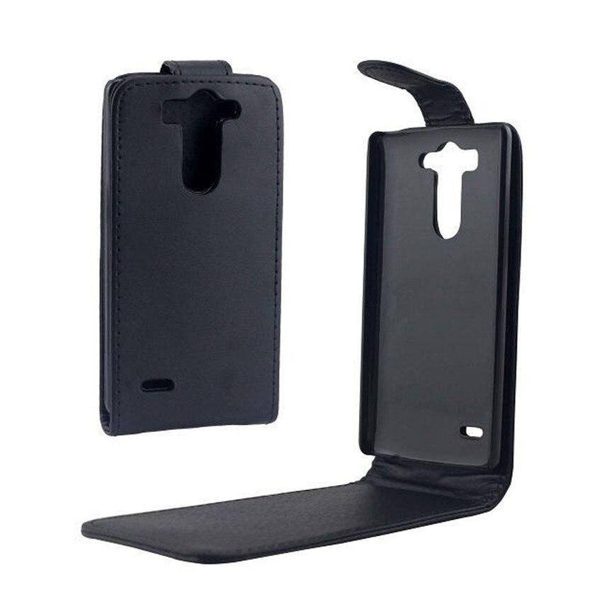 Fundas de teléfono para LG G3 Mini funda de teléfono trasera coque de cuero de PU con tapa Vertical arriba-abajo Bolsa De piel abierta