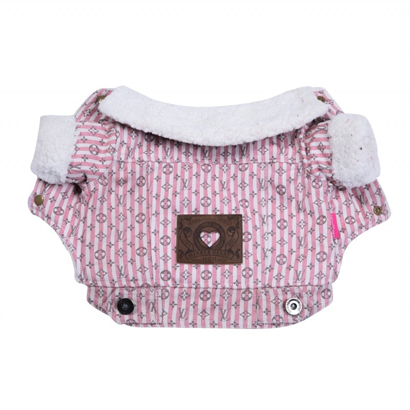Novo cão cowboy roupas para cães pequenos jaqueta rosa traje espessamento pet cão casaco inverno animais de estimação roupas para cães vestuário xxl